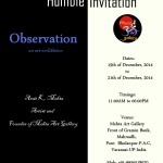 Observation an art exhibition by Amit Kumar Mehta