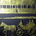 Buckingham Palace and Royal Mews cement mural artwrok