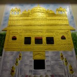 Golden temple cement mural at Goa